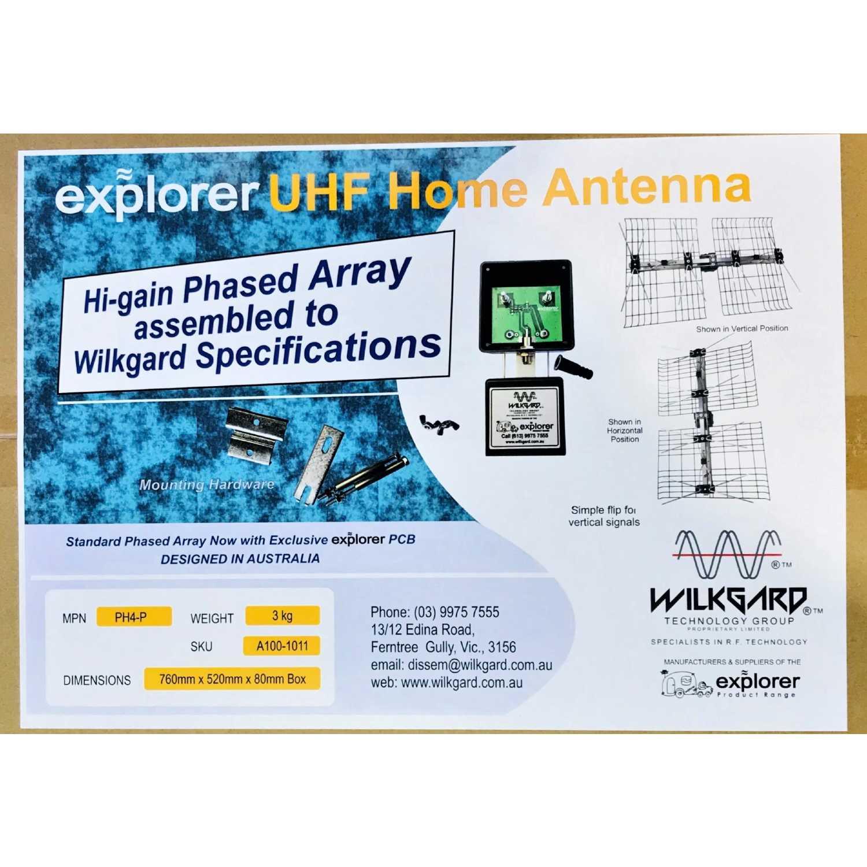 UHF Phased Array TV Antenna High Performance